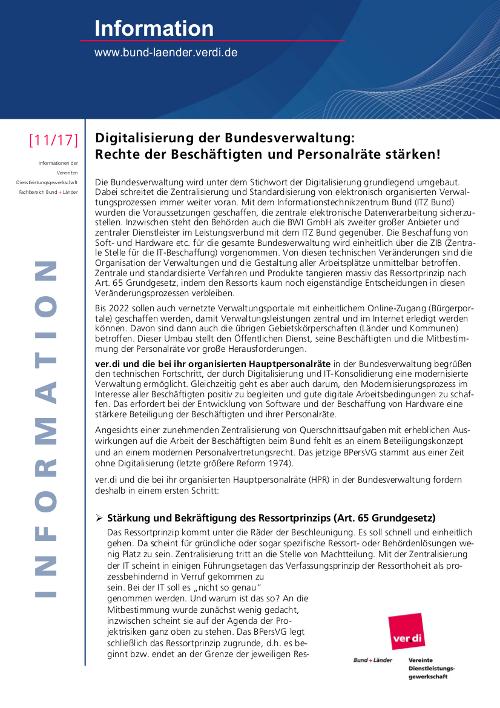 Flugblatt von ver.di zur Digitalisierung vom 1.11.2017